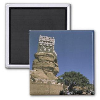 L'Asie, Yémen, Wadi Dhar. Palais de roche, ou Al d Magnet Carré
