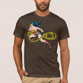 Lasso de oscillation de femme de merveille laissé t-shirt