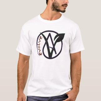 """L'athée végétalien """"évoluent"""" le T-shirt"""