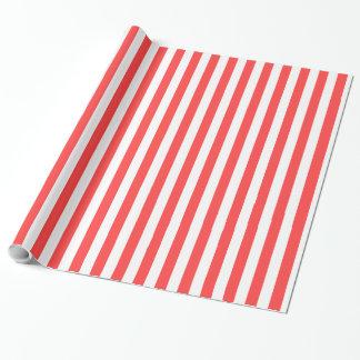 L'atterrisseur rouge de corail de blanc barre papiers cadeaux