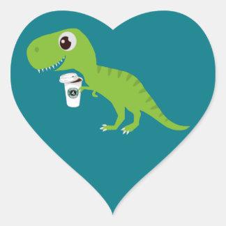 Lattes de l'amour de Dino Sticker Cœur