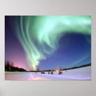 L'aurore - belles lumières du nord poster
