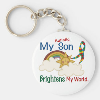L'autisme ÉCLAIRE MON fils du MONDE 1 Porte-clef