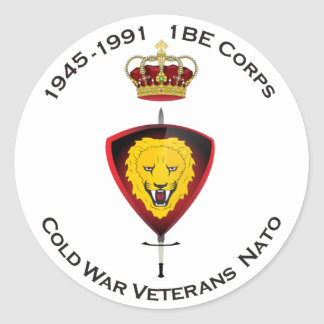 L'autocollant Cold désordre Veterans NATO 1BE le Sticker Rond