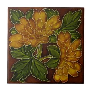 L'automne antique colore la tuile florale Repro de Carreau