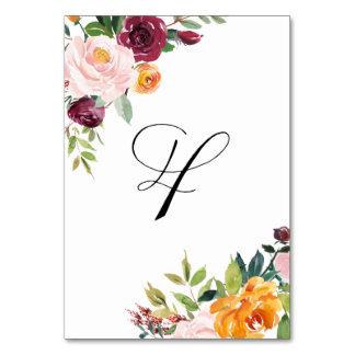 L'automne d'aquarelle fleurit Tableau floral le
