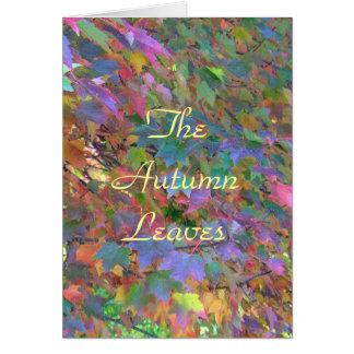 """L'automne de /Multi-colored du feuille d'automne"" Carte"
