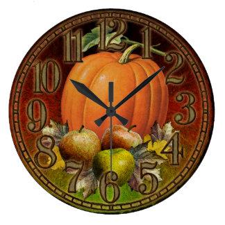 L'automne porte des fruits horloge murale