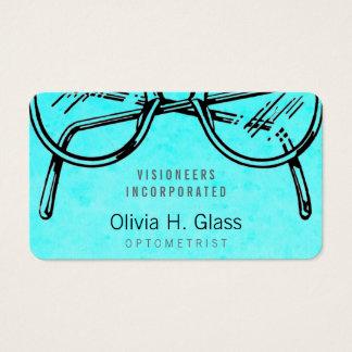 Lavage optique d'aquarelle de vision de lunetterie cartes de visite