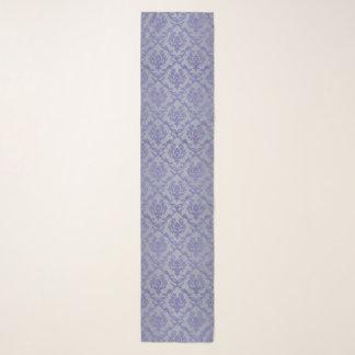 Lavande et écharpe florale grise de mousseline de