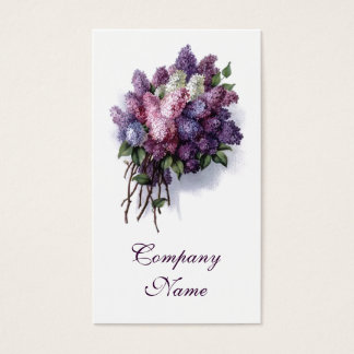 Lavande vintage de cartes de visite de fleuriste