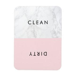 Lave-vaisselle moderne de marbre rose et blanc de magnet flexible