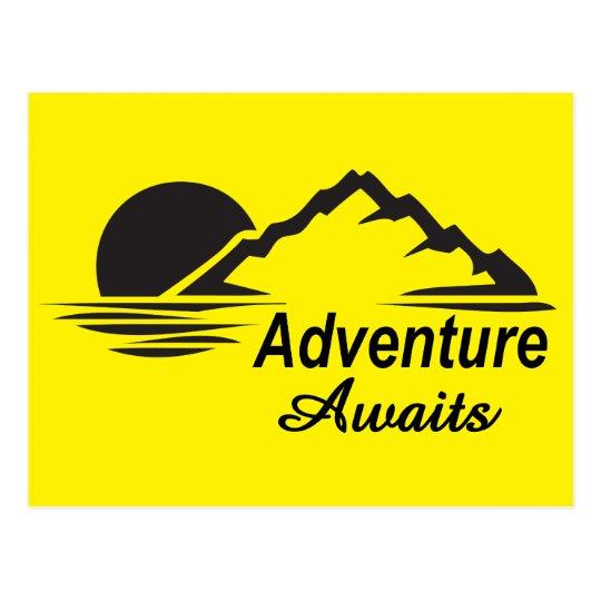 L'aventure attend la nature grande dehors carte postale