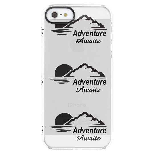 L'aventure attend la nature grande dehors coque iPhone clear SE/5/5s