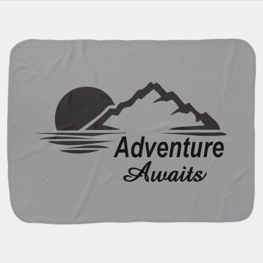 L'aventure attend la nature grande dehors couvertures de bébé