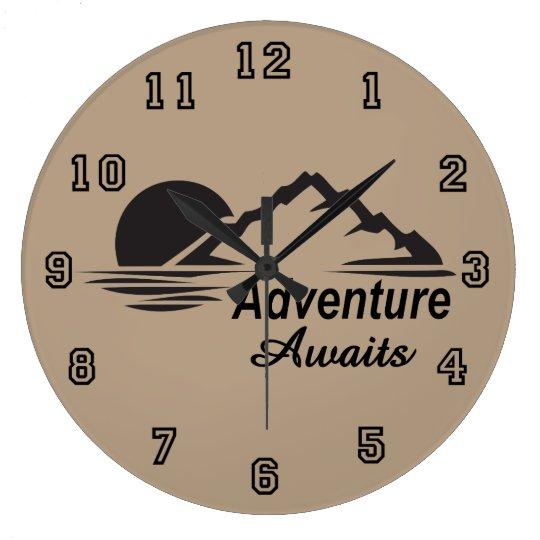L'aventure attend la nature grande dehors grande horloge ronde