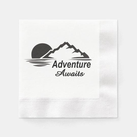 L'aventure attend la nature grande dehors serviettes en papier