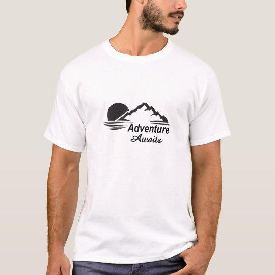 L'aventure attend la nature grande dehors t-shirt