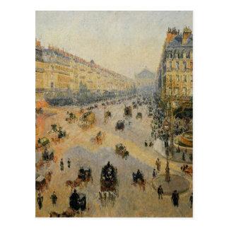 L'avenue de L'Opera, Paris, lumière du soleil, Carte Postale