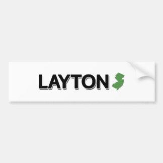 Layton, New Jersey Autocollant De Voiture