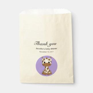 Le baby shower mignon de bande dessinée de kawaii sachets en papier