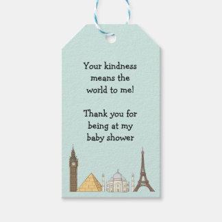 Le baby shower orienté de voyage étiquette le