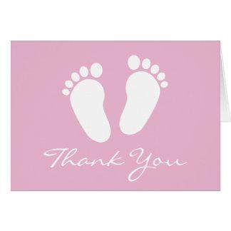 Le baby shower vous remercient des cartes avec des