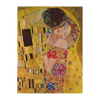 Le baiser par Gustav Klimt, art vintage Nouveau