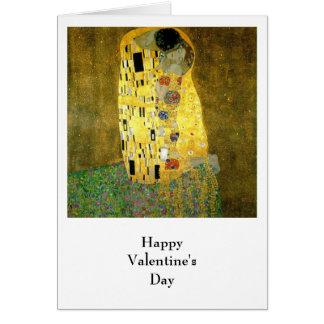Le baiser par Gustav Klimt Carte De Vœux