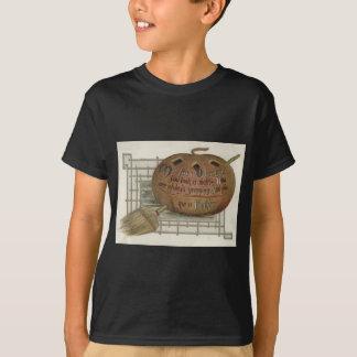 Le balai de sorcière de citrouille de lanterne de t-shirt