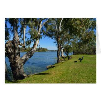 Le banc de parc, Berri, Australie du sud, Carte