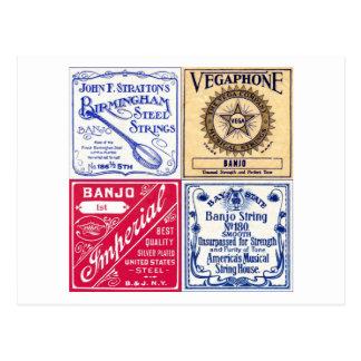 Le banjo ficelle la carte postale