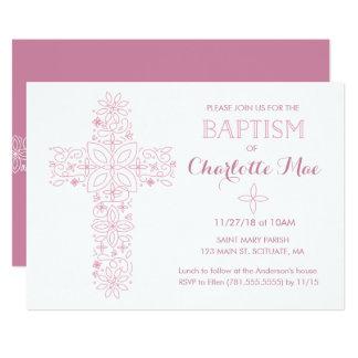 Le baptême du bébé, carte d'invitation de baptême carton d'invitation  12,7 cm x 17,78 cm