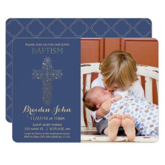 Le baptême du garçon, invitation de baptême,