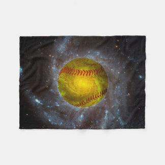 Le base-ball dans la couverture unique d'ouatine