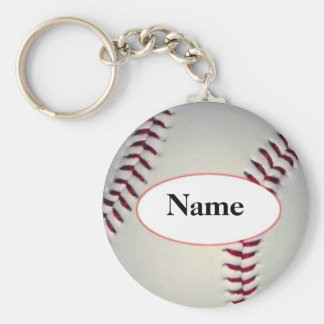 Le base-ball with your on it désagréable porte-clé rond