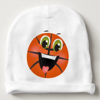 Le basket-ball folâtre l'athlète orange mignon bonnet pour bébé