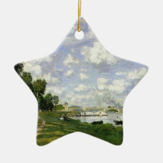 Le bassin à Argenteuil - Claude Monet Ornement Étoile En Céramique