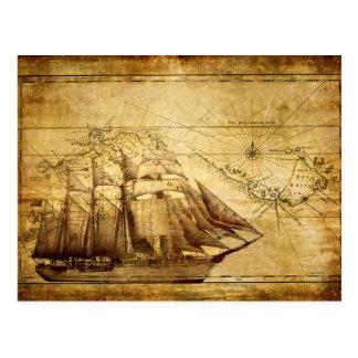 Le bateau de carte du monde le plus ancien cartes postales