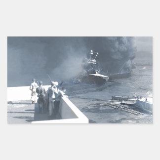 Le bateau de la Californie dans la boue Sticker Rectangulaire