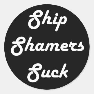 Le bateau Shamers sucent autour des autocollants