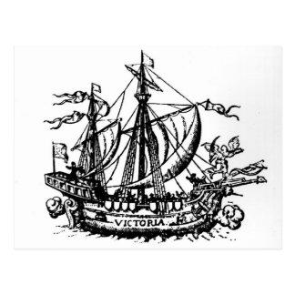 Le bateau 'Victoria de Ferdinand Magellan Cartes Postales