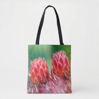 Le beau cactus fleurit le sac fourre-tout