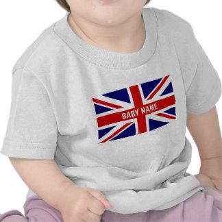 Le bébé d Union Jack principal le drapeau de Per T-shirts