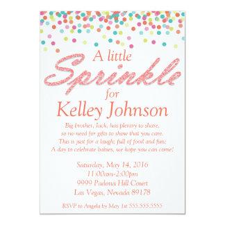 Le bébé de corail arrosent l'invitation de douche carton d'invitation  12,7 cm x 17,78 cm