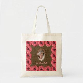 Le bébé floral de toile de jute | créent votre tote bag
