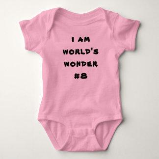 Le bébé jersey Romper Iam s wonder#8, clignote Body