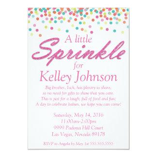 Le bébé rose arrosent l'invitation de douche carton d'invitation  12,7 cm x 17,78 cm