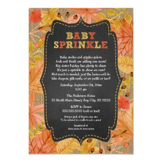 Le bébé rustique de feuille d'automne carton d'invitation  12,7 cm x 17,78 cm