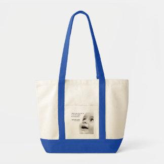 Le bébé sourit bleu de sac de fourre-tout
